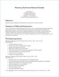 Pharmacy Technician Resume Sample No Experience Resume Example