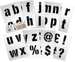 large 100mm letter alphabet stencil