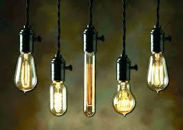 picturesque bulbs lighting hanging pendant light creative industrial bulb chandelier edison diy