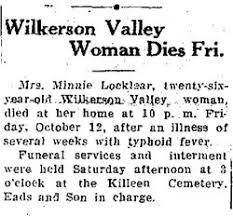 Minnie Effie Powers Locklear (1908-1934) - Find A Grave Memorial