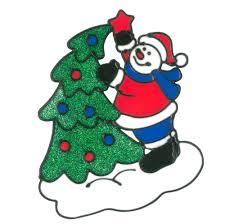 Magicgel 5er Set Fensterbilder Weihnachten Mittel Weihnachtsmann Mit Rentier Weihnachtsmann 2 X Schneemann Lebkuchenhaus