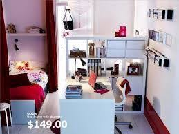 A teen room study area with a desk, work lamp, shelves, clipboard,