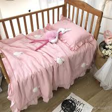 high end cotton washed three dimensional embroidery summer cotton gauze air conditioning is the core baby baby nap baby bedding kids queen bedding sets for