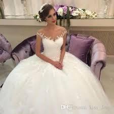 sheer ball gown princess wedding dresses 2017 new arrival best