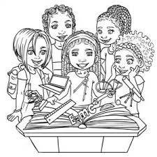 Colouring Books Featuring African American Children With Natural