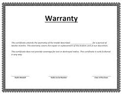 Warranty Certificate Template 7 Download Free Documents In