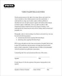 Actor Release Form Best Video Release Form Samples 48 Free Documents In Word PDF