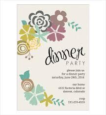 Invitation Card For Dinner Party 54 Dinner Invitation Designs Psd Ai
