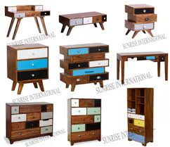Retro Style Furniture Cabinet In Mango Wood Vintage Range