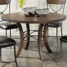 Metal And Wood Kitchen Table Cameron Round Wood Dining Table With Metal Acent Base Rotmans
