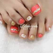 Blah Zeh Nail Salonschool On Twitter 夏ネイルビジューフット