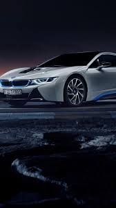 bmw i8 iphone wallpaper. Brilliant Wallpaper HD Background BMW I8 In White Color Side View Night Wallpapers  On Bmw I8 Iphone Wallpaper I
