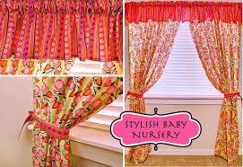 stylish baby nursery flowery curtains striped valance sew4home
