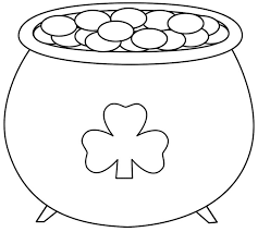 Pot Of Gold Color Sheets Free Printable Pot Of Gold Coloring Pages Coloring Pages