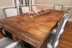 dining table made from reclaimed wood barn wood dining tables inside room furniture reclaimed table upholstered