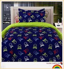 2018 skull bedding comforter set for single double bed skull and crossbones bedding for teen boys from lin127 140 96 dhgate com