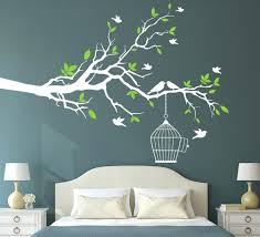 bird and tree wall decals buy tree branch with bird cage wall art sticker  buy tree