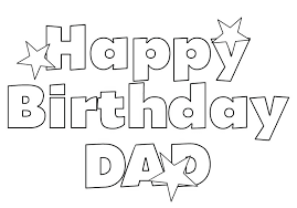 Printable Coloring Pages That Say Happy Birthday Birthday Cake