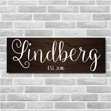 Personalized Wood Signs Home Decor Personalized Wooden Last Name Established Sign Personalized Home 2