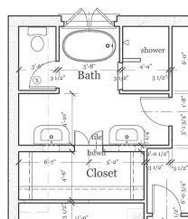 master bathroom layout plan with bathtub and walk in shower