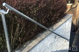 long handrail for exterior stairs