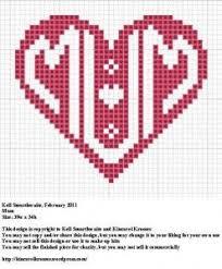 Mums The Word To Stitch Cross Stitch Heart Cross Stitch