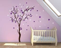 >stick on wall art cherry blossom wall decal wall sticker decals baby  stick on wall art cherry blossom wall decal wall sticker decals baby girl room decor personalized wall decals decalisland sacura tree sd 021