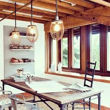rustic home lighting. lighting ideas industrial home office pendant with cage in rustic design r
