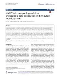 pdf micros drt supporting real time and scalable data distribution in distributed robotic systems
