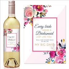 Will You Be My Bridesmaid? Bridesmaid Wine Labels | Icustomlabel