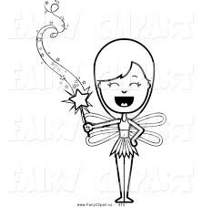 Fairy clipart magical - Pencil and in color fairy clipart magical