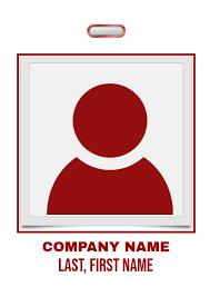 Red Company Badge Template Postermywall