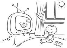 tv clipart black and white. family watching tv clipart black and white