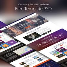 Company Portfolio Template Company Portfolio Website Template Free PSD At DownloadFreePSD 11