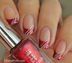 Nail Art Red French façon gel | Neat Nails | Pinterest | Makeup ...