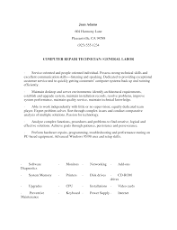 Resume Examples For Laborer Business Word Templates Content