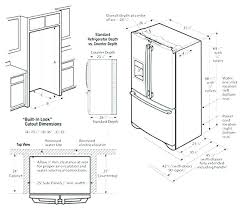 standard fridge height. Average Size Refrigerator Fridge Sizes Standard Counter Depth Dimensions Awesome Kitchen Height D