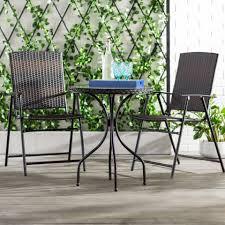 three posts gretchen patio wicker 3 piece bistro set reviews wayfair ca
