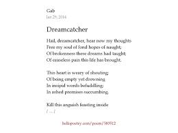 Dream Catcher Poem Stunning Dream Catcher Poem Getting 32 Websiteformore