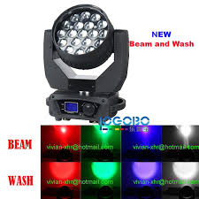 china moving dj lights led zoom beam 4in1 rgbw light 19x15w led wash moving head led church theatre stage flood lighting effects packages dj lights led