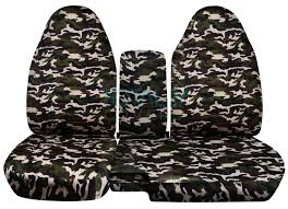 ford ranger 60 40 brown and green military camo seat covers