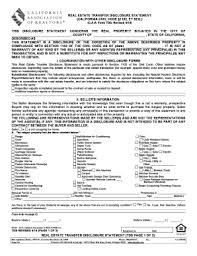 Fillable Online Real Estate Transfer Disclosure Statement