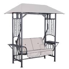 2 seater garden swing seat with stand