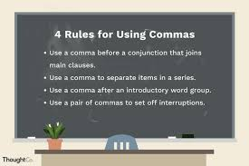 When To Use Comma The Comma In Punctuation