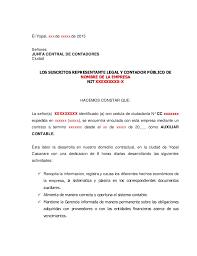 Formato De Certificado Laboral Para Tarjeta Profesional Contador