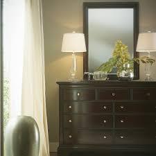 Stanley Furniture Transitional Nine Drawer Dresser and Mirror ...