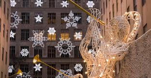 rockefeller center, snowflakes, saks fifth avenue, new york city, christmas,  decorations