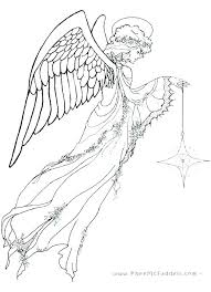 Angels Coloring Pages Printable Prestigious Angel Gallery Page