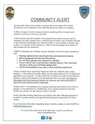 for more information and up to date news look for us at southlakepd com