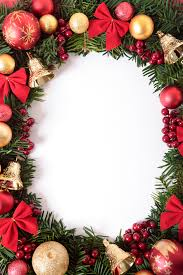 Vertical Christmas Wreath Border Photo Free Download